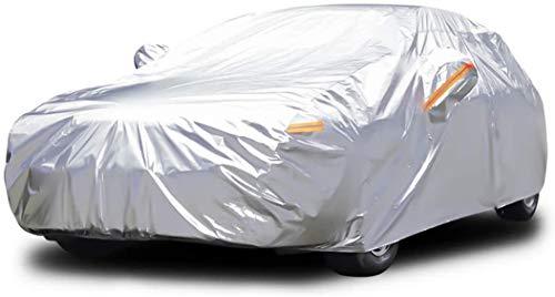Dripex Vollgarage Autoabdeckung Wasserdicht Autogarage Autoplane Aluminiumfolie Ganzgarage Auto Plane Car Cover 485 x 193 x 143 cm