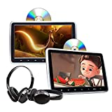 2021 Newest Headrest DVD Player 10.1 Inch DVD Player Universal Vehicle Headrest Monitor Portable DVD Player for Kids Dual Screen Headrest DVD Player Digital Touch Button HDMI-C1100B