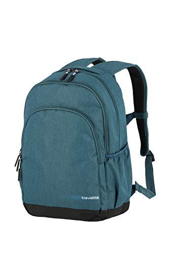 travelite Handgepäck Rucksack Größe L erfüllt IATA Bordgepäck Maß, Gepäck Serie KICK OFF: Praktischer Rucksack für Urlaub und Sport, 006918-22, 45 cm, 22 Liter, petrol (türkis)