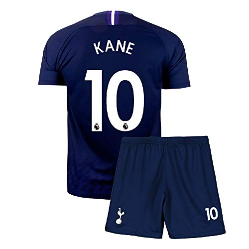 Youth Kane Shirt Jersey 10 Soccer Kid's Athletics Sports Blue (L=26(9-10Years Old))