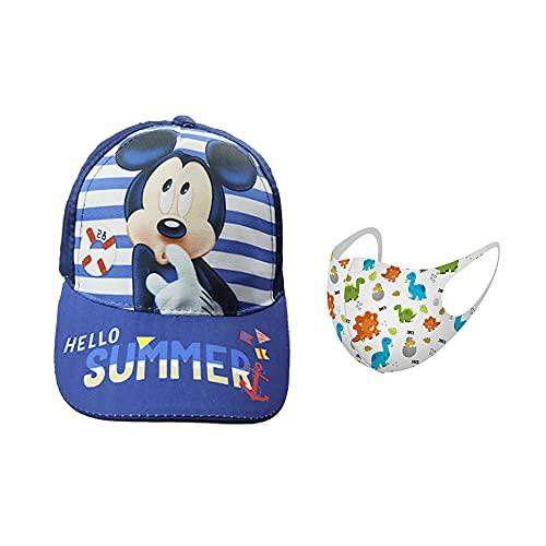 Gorra Infantil con Visera Mickey Mouse + Mascarilla de protección....
