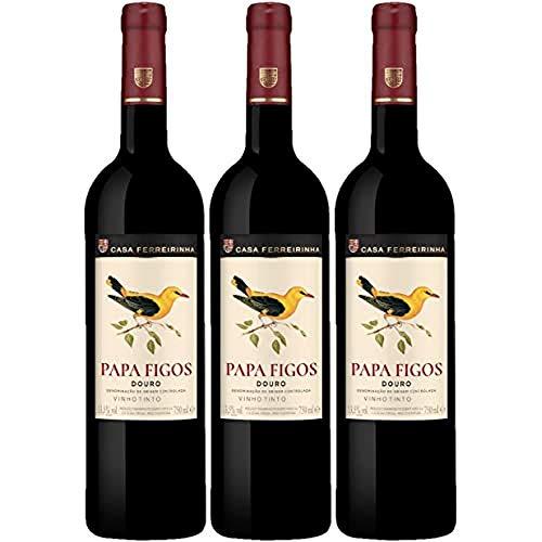 Vino Tinto Casa Ferreirinha Papa Figos (D.O.Douro) - 3 botellas de 750 ml - Total: 2250 ml