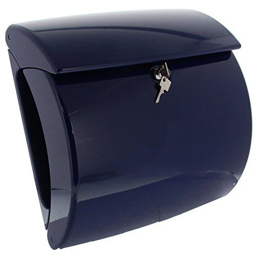 BURG-WÄCHTER Briefkasten mit integriertem Zeitungsfach Klavierlack-Optik, A4 Einwurf-Format, EU Norm EN 13724, Piano 886 MB, Marine Blue