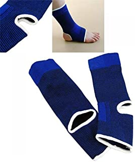 HealthyNeeds LUCKSTONE Blue Elastic Neoprene Ankle Support Feet Protector Brace Sport Sock Unisex