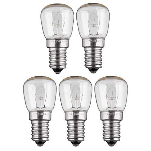 5x Backofenlampe | 15W | E14 | 230V | 2200 K | warm-weiß | Birne Lampe Glühbirne Glühlampe Leuchtmittel für Backofen Backofenglühbirne | warmweiß | 5 Stück