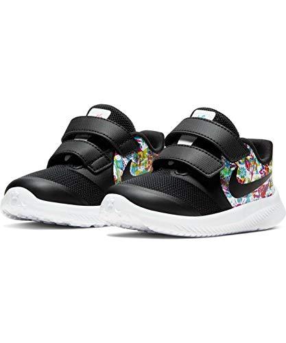 Nike Mädchen Star Runner 2 Fable Little Kid Laufschuh, Black Black Fire Pink Blue Fury, 22 EU