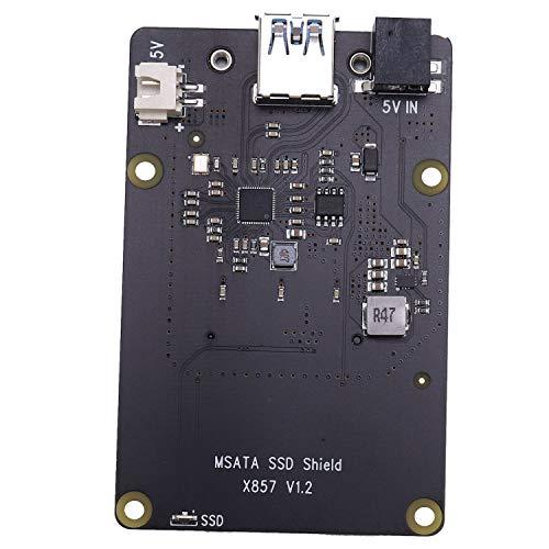 Tamkyo MSATA SSD Storage Expansion Board X857 USB3.1 Shield for Raspberry Pi 4B