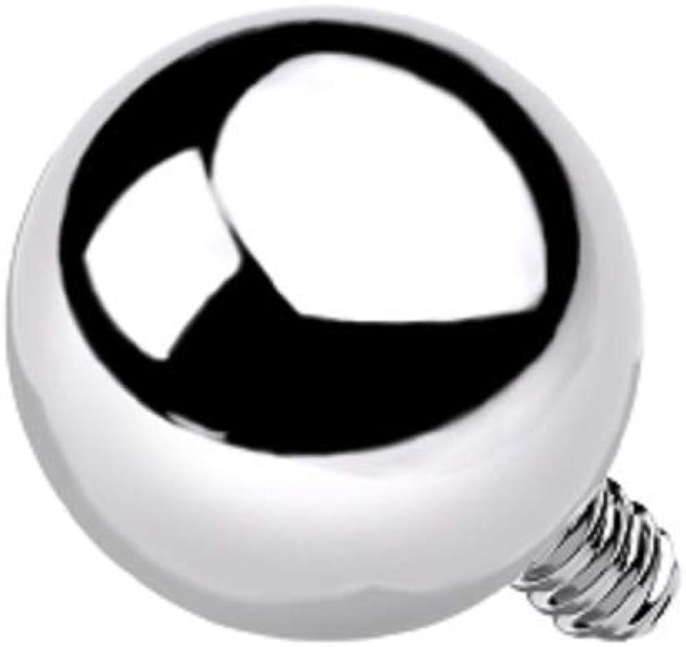 Pierced Owl 14GA G23 Implant Grade Titanium Internally Threaded Ball Dermal Anchor Top