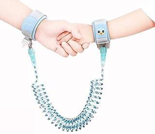 حزام معصم مطور للاطفال مع قفل لحماية الطفل من الضياع لون ازرق بطول 2 متر