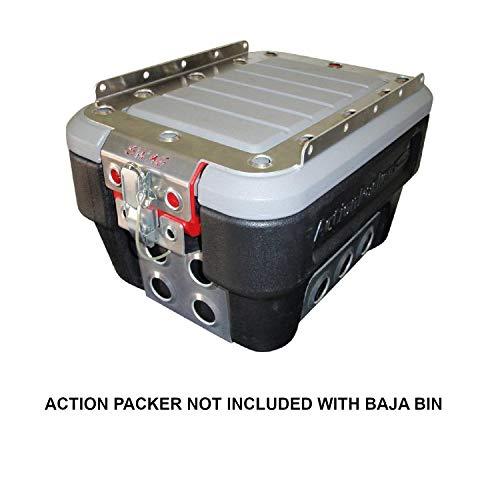 Swag 8 Gallon Rubber Maid Action Packer Baja Bins (Baja Bin Dual Clasp Design Dimple Die Top & Bottom)