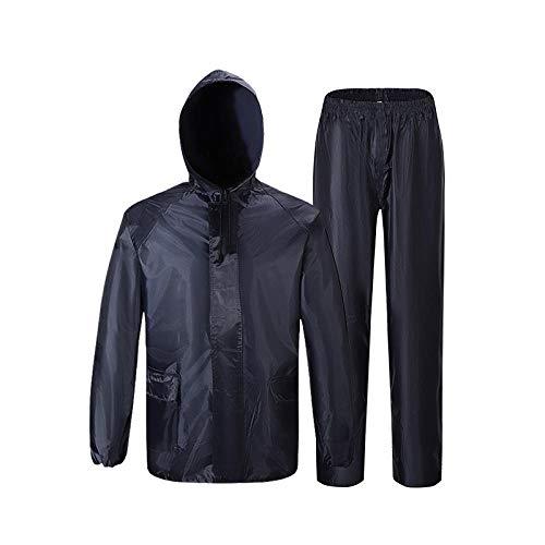 Veste à Capuche Pliable Imperméables Femmes/Hommes Cyclisme Manteau De Pluie Extérieur À Capuche Rain Rain Gear s Manteau-Marine_4XL