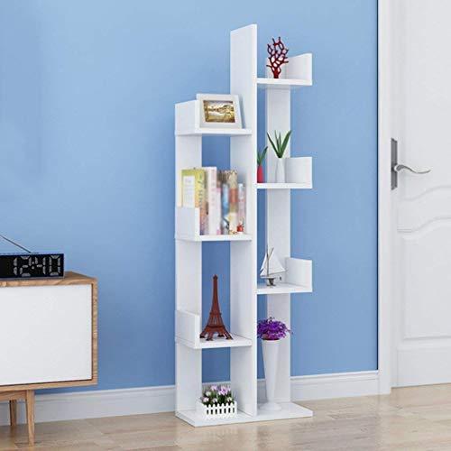 DLLDCWJ Estantes de Almacenamiento Simples Sala de Estar Creativa Dormitorio Estantería para niños Estantes de Ventana de bahía de Piso Simple Estantería Moderna en Forma de árbol Color Op