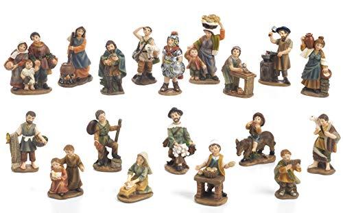 Artículos religiosos de Paben Set de 18 Figuras de Belén, 7 cm. De R