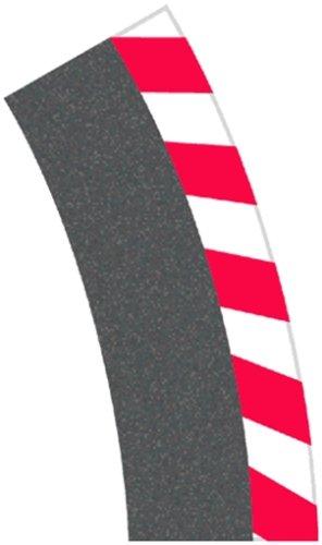 Carrera - rail et accessoire pour circuit - 20020580 - 1/24 et 1/32 - Carrera Evolution -Carrera Digital 132 et 124 - Bordures extérieurs pour les virages relevés 4/15° (12), embouts (2)