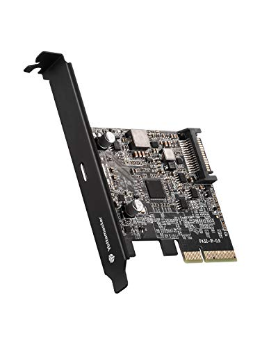 [20Gbps]Yottamaster USB3.2 Gen2x2増設ボード Type-C×1ポート拡張 インターフェースカード PCI Express3.0 x4 x8 x16対応 SATA15ピン電源コネクタ Windows/Linux対応[C5]