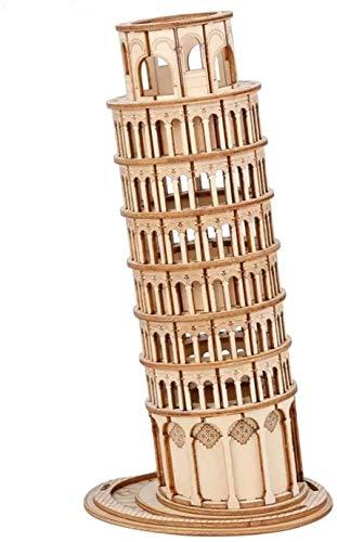 Rolife Holzmodellbausätze für Erwachsene und Jugendliche, Holzbastel-Bausätze - 3D-Puzzles für Erwachsene, Bastel-Kits, schiefer Turm von Pisa