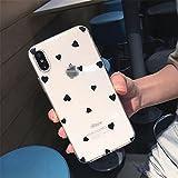 BLBI 2pcs Coque Téléphone pour IPH/One 12 11 6 6 6S 7 8 Plus x XR 11Pro XS Transparent Transparent...