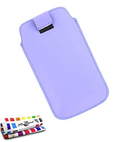MUZZANO Schutzhülle Alcatel OT/6030[Sweep XL] [violett] Eingabestift und Reinigungstuch angeboten–Der Schutz stoßfest ultimative, Elegante und nachhaltige für Ihr Alcatel OT/6030