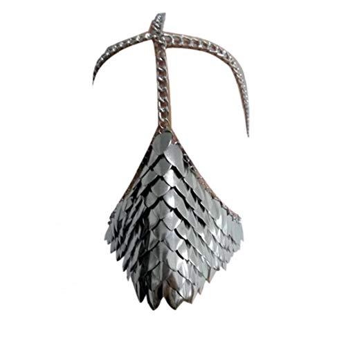 Einzigartiger Metall-Kopf-Ketten-Schablonen-Gesicht Schmuck Für Halloween Cospaly Partei-Abendkleid-Kugel-Geschenk (Silber)