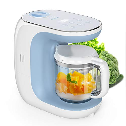 Baby Food Maker Eccomum Baby Food Processor Multi-Function Cooker, Blender to Steam, and Puree with Tritan Stirring Cup, Touch Control Panel, Auto Shut-Off