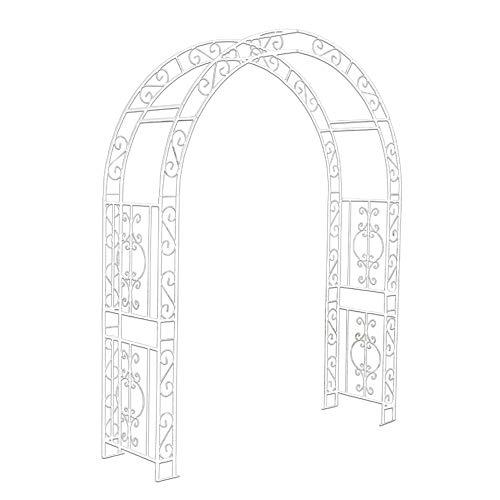 バラアーチ 鉄製アーチ・咲 白 1個 幅180cm・奥行50cm・高さ230cm ガーデンアーチ ローズアーチ ガーデニング