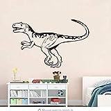 JGEU Wall Sticker Dinosaur Wall Stickers Self Adhesive for Kids Bedroom Home Decoration Vinyl Waterproof Alectrosaurus Sticker 92 58Cm