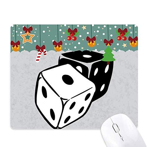 dés casino en noir et blanc illustration tapis de souris en jeu - office mat noël