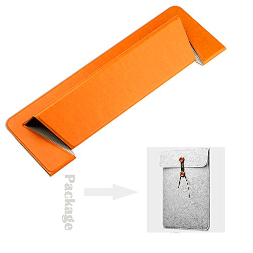 Laptop Cooler Cooling Stand, CamRom One-Piece Designed Portable Base pad Universal Foldable Stand for Apple MacBook Air Pro Asus Acer Lenovo Dell HP Chromebook Ultrabook (Orange)