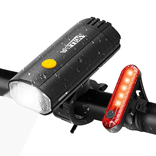 WOTEK 2 in 1 Luces para Bicicleta LED Impermeable, Power Bank 4000mAh...