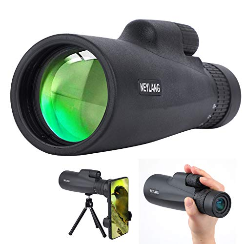 10-30x50 Monokular Teleskop für Erwachsene, Wasserdichtes HD Monokular Zielfernrohr mit Smartphone zur Vogelbeobachtung Sightseeing Wandern Jagd Camping Reisen