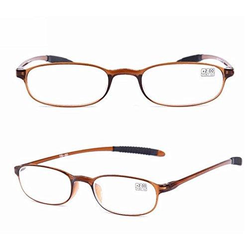 Inovey TR90 Ultralight Onbreekbare leesbril Druk Vergroting 1,0 1,5 2,0 2,5 3,0 3,5 4,0