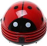 Hua Xin Mini Mariquita Aspiradora de Mesa Eléctrica Limpiador de Polvo (Rojo