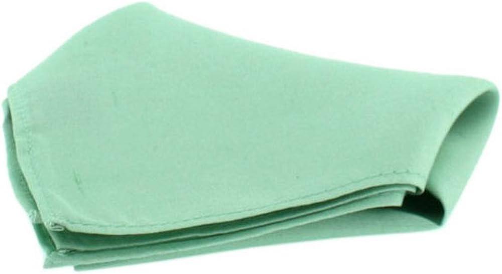 David Van Hagen Mens Satin Silk Handkerchief - Mint