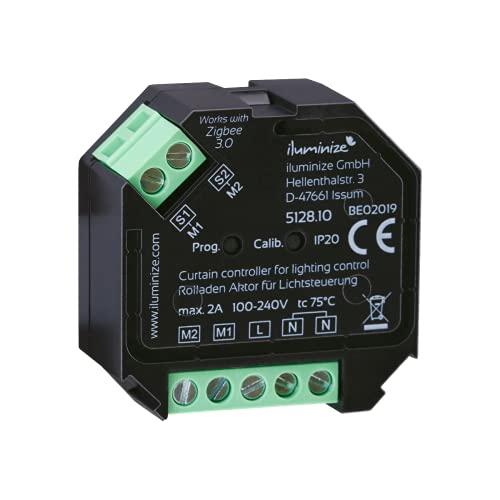 Zigbee - Persiana y accionador de pantalla mini, 2 canales hacia arriba y hacia abajo, máx. 2 A, controlable con control de luz Zigbee (regulable), montaje en una caja de interruptor profundo