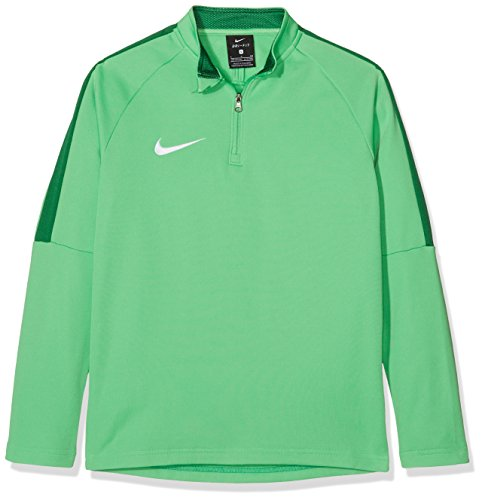 Nike Jungen Long Sleeved T-Shirt Y Nk Dry Acdmy18 Dril Top Ls, Lt Green Spark/Pine Green/(White), XS, 893744