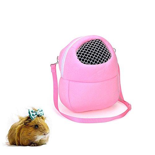 Hyihe Pequeñas bolsas de transporte de animales para mascotas, bolsa de viaje portátil transpirable, bolsa de mano para hámster/erizo/conejo/azúcar glider/ardilla/cobaya.