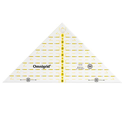 """Omnigrid Rt Triangle for 8 inch Square Quilting Ruler, 8"""", Clear"""