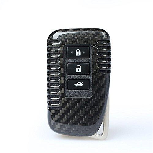M.JVisun Funda protectora de fibra de carbono auténtica para llave de coche Lexus ES GS is LS LX NX