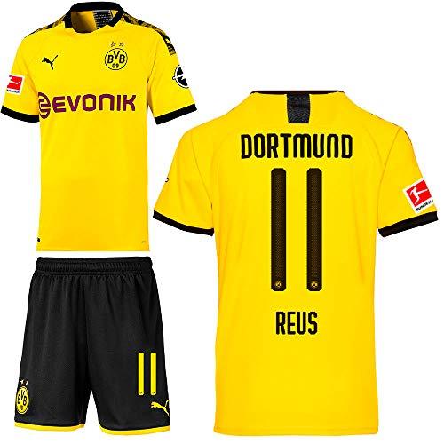 PUMA Borussia Dortmund BVB Heimset 2019 2020 Home Kit Trikot Shorts Kinder Marco Reus 11 Gr 164