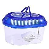 STOBOK Tanque de Plástico para Tortuga Reptil Habitat para Mascotas Terrarios para Mascotas Tanque para Acuario Terrapin Basking con La Plataforma S