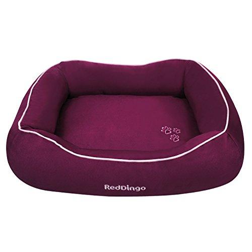 Red Dingo Korb wattiert für Hunde violett