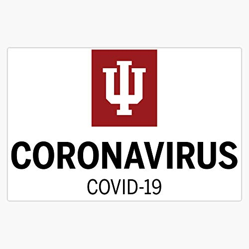 CNW Studio Indiana University Coronavirus Logo Vinyl Decal Wall Laptop Car Bumper Sticker 5'