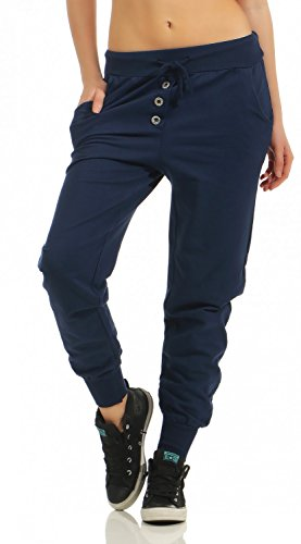 Damen Freizeithose Sporthose Sweat Pants lang (623), Grösse:XL / 42, Farbe:Dunkelblau
