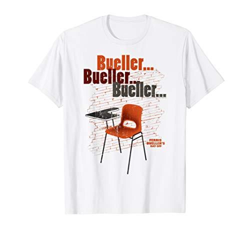 Bueller Empty School Desk Funny T-shirt, 5 Colors for Men, Women