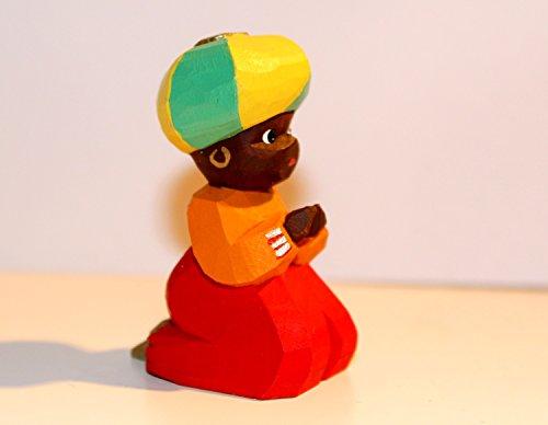 Lotte Sievers-Hahn Krippenfiguren * Knabe kniend farbig im Baumwollbeutel * 1140