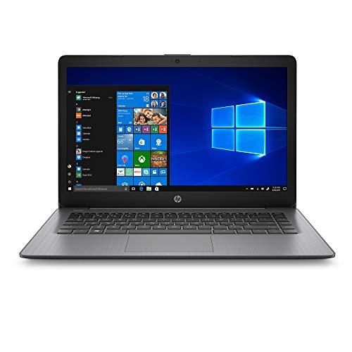 "HP Stream 14"" HD Laptop PC, Intel Celeron N4000 Processor, 4 GB RAM, 64 GB eMMC, HDMI, Webcam, WiFi, Windows 10 S, Brilliant Black"
