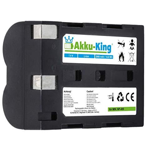 Akku-King Akku kompatibel mit Minolta NP-400 - Li-Ion 2000mAh - für Minolta A Sweet Digital, a-5 a-7 Digital, DImage A1, A2, Dynax 5D, 7D