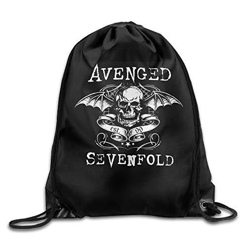 JIMSTRES Avenged Sevenfold Logo Polyester Travel Sports Drawstring Backpack Bag