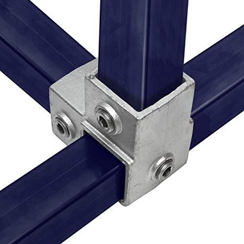 KLEMP Pieza angular Conexión tubo cuadrado continuo...