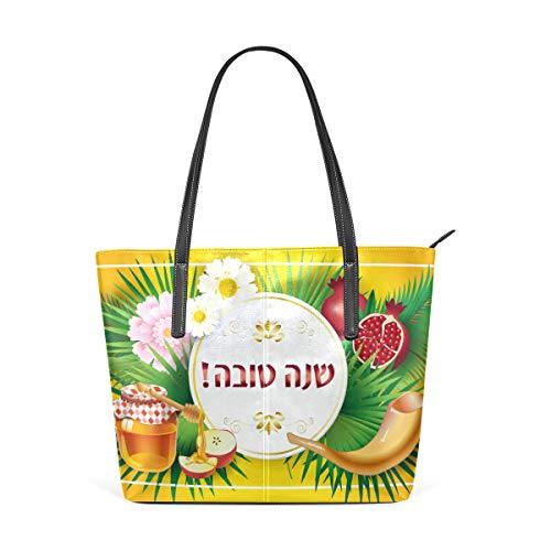 Rosh Hashanah Honey Apple Shofar Granada Moda Bolso de hombro Bolsos de mano para mujeres y niñas